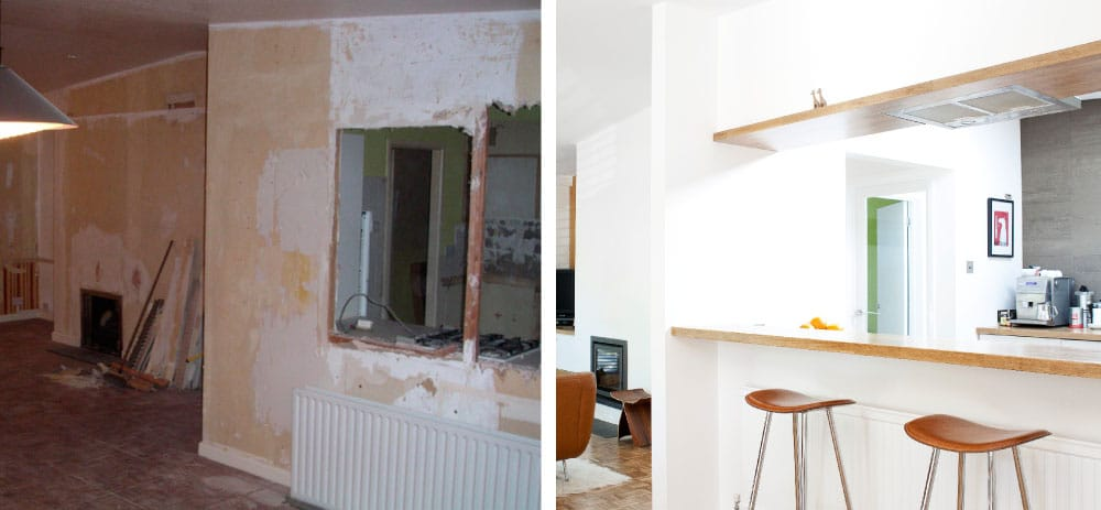 Breakfast Bar before and after