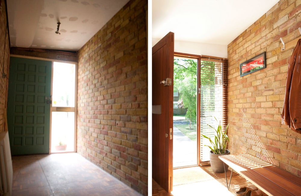 Entrance Hall before and after