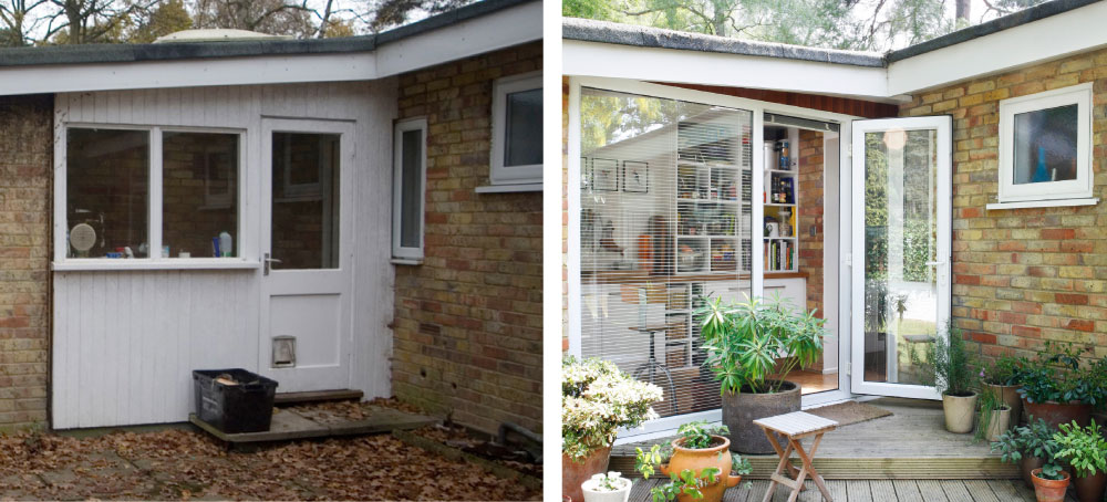 Kitchen Garden before and after