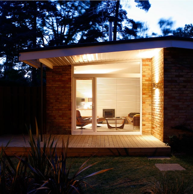 Renway Type 60a Bungalow - Loggia at dusk
