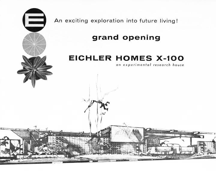 Eichler X-100 Brochure Cover, 1956