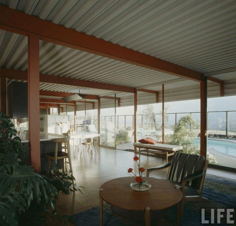 Eichler X-100 interior in Life Magazine